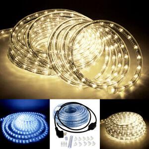 2-50m LED Regenbogenlichter Lichterschlauch Schlauch Lichterkette Außen/Innen