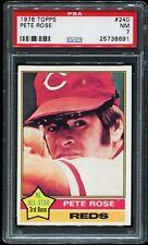 1976 Topps Baseball #240 PETE ROSE Cincinnati Reds PSA 7 NM