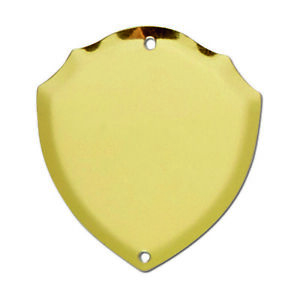 Trophy Side Shield (S032) - Gold / (Metal) - With Free Engraving