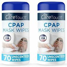 Care Touch CPAP Mask Cleaning Wipes 2 Packs of 70 Unscented 140 Total Non-Woven