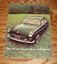 Original 1969 Volkswagen VW Fastback Sales Brochure 69