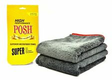 New Premium Microfiber Cleaning Cloth, 60 x 40 cm, Grey - Pack of 2 @UK