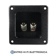 Morsettiera per casse acustiche 2 poli  da pannello 75,9 x 75,9 mm
