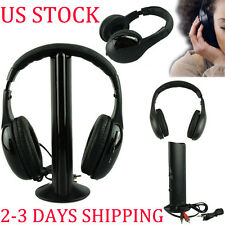 Hi-Fi 5IN1 Wireless Headphone Casque Audio Sans Fil Ecouteur Radio FM TV PC MP3