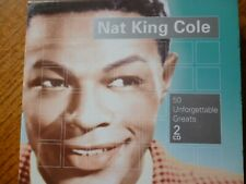 2 CD BOXSET - NAT KING COLE - 50 Unforgettable Greats [2006]