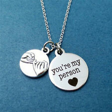 You're My Person Pinky Promise Charms Friendship Family Love Pendant Necklace SE