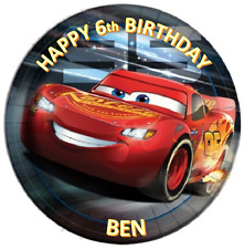 CARS Personalised Edible Cake Icing Sheet Topper Round Images