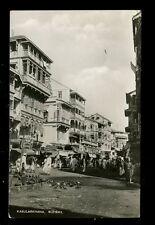 India BOMBAY Kabularkhana vintage street scene 1953 RP PPC