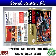 Boitier universel de rangement Street Fighter 2, super nintendo, FR, rendu HD.
