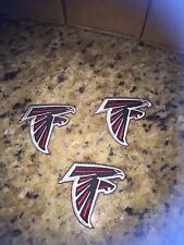(3) Lot Atlanta Falcons iron on patches 2 1/4 inch