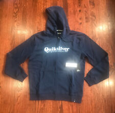 New Mens Quicksilver Full Zip Blue Hoodie Size Medium
