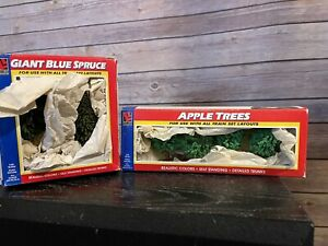 Life-Like Trains Apple Trees And Giant-Blue Spruce