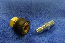 """PRESSURE WASHER JETWASH PAIR QUICK RELEASE COUPLINGS MINI 11.6MM X 1/4""""BSP MALE"""