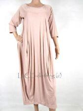 Vestiti da donna maniche a 3/4 rosa con girocollo