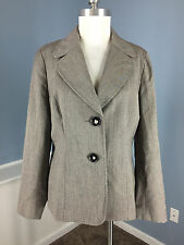 Talbots 12 Brown Blazer Career Cocktail Excellent 100% Wool