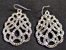 Clear Crystal Diamantes Bridal Wedding Art Deco Inspired Drop Pierced Earring