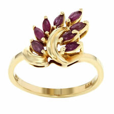 Unbranded Solitaire with Accents Ruby Fine Rings