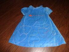 BOUTIQUE AGATHA RUIZ DE LA PRADA BEBE 24M 24 MONTHS BLUE VELOUR DRESS