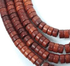 "4x2mm Turquoise Heishi Beads 16""  -  Burnt Sienna"