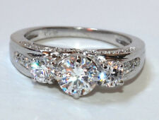 2.10CT BRILLIANT CUT DIAMOND SOLITAIRE ENGAGEMENT RING 14CT SOLID WHITE GOLD