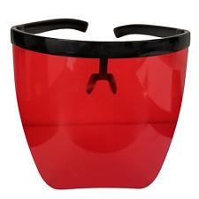 Protective Transparent Face Shield Mask Anti-Fog Visor - Red G7116
