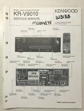 KENWOOD KR-V9010 A V SURROUND RECEIVER ORIGINAL SERVICE REPAIR MANUAL