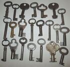 LOT OF 22 VINTAGE OPEN BARREL SKELETON KEYS CABINET FURNITURE TRUNK ANTIQUE KEY