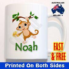 Personalised Monkey Children* Kid* plastic Mug cute Christmas Gift* Present