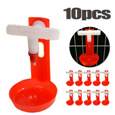 10PCS Poultry Water Chicken Drinking Hanging Cups Plastic Automatic Drinker