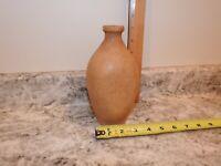 Antique Stoneware Whiskey Flask Salt Glazed Liquor Bottle Pottery Alcohol Nip!