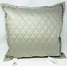 "Ralph Lauren Bedford Quilted 100% Cotton Decorative Pillow 20"" x 20"" -Grey Dawn"