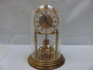 BROKEN Vintage ACCTIM 400 Day Torsion Anniversary Dome Clock Haller Quartz Germa
