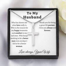 Husband Birthday Gift, To My Husband Gift, Christmas Gifts for Husband, Men Cros