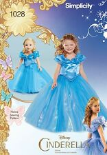 "Simplicity SEWING PATTERN 1028 Disney Cinderella Costume,Child 3-8 & 18"" Doll"