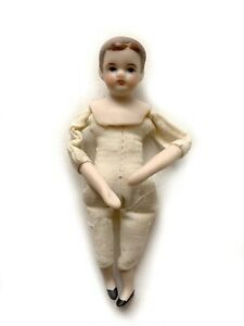 "Vintage 1976 Lois Jayne Miniature Dollhouse Doll Porcelain 3 3/4"" ClothBody RU14"