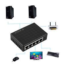 5 Port 10/100Mbps Desktop Ethernet Network LAN Power Adapter Switch Hub D3