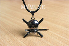 One Piece Roronoa Zoro Three Katana Sword Necklace Skull Symbol Pendant Gift