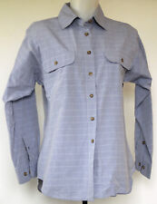 Mountain Equipment Co-Op Blue Windowpane Plaid Long Sleeve Button-Front Shirt M