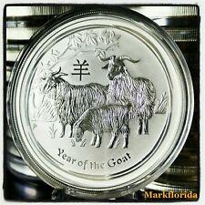 2015 Australia Lunar Year of the Goat / Ram 1/2 oz Silver Jahr der Ziege 50 Cent