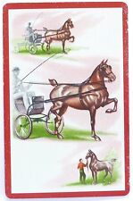 VINTAGE SWAP CARD. HORSE & BUGGY CARRIAGE DRIVING SKILLS c1950 GILT EDGE RUSSELL