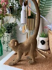 Beautiful bronze effect Velvet Monkey Table Lamp cute jungle tropical theme