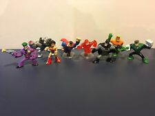 DC Universe Action League Batman The Joker, Wonder Woman Lot Of 8 Mini Figures