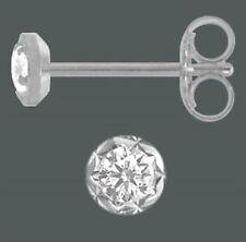 Ohrstecker Ohrringe weiß diamantiert 1 Paar 925 Silber 3,5 mm Zirkonia Unisex