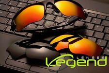 Fire/gold Mirror&Dark black Oakley Flak Jacket XLJ POLARIZED replacement lenses