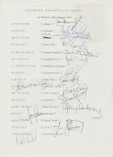 NORTHERN IRELAND 1984 INTERNATIONAL ORIG HAND SIGNED TEAM PAGE 15 X SIGNATURES