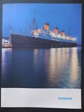 Rare! R.M.S. Queen Mary Schedule 11-1-1967 The Last Great Cruise For The Ship!