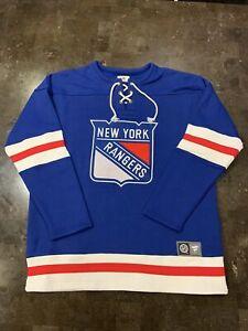 Fanatics Men's NHL New York Rangers Retro Lace Em Up Pullover Sweatshirt SZ XL