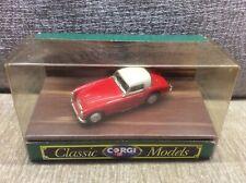 AUSTIN HEALEY 3000 SPORTS CAR RED / WHITE HARDTOP CORGI 1:43 *BOXED*
