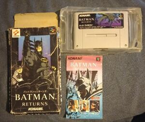 Batman Returns Super Famicon and SNES convertor. Boxed, tested and working.