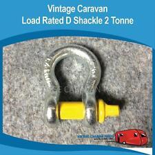 Caravan LOAD RATED D SHACKLE 2.0 TONNE 13mm Trailer Vintage Viscount CB0114